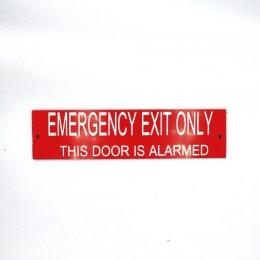 Emergency Exit Alarmed Sign