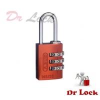 Abus aluminium Orange body 3 wheel combination padlock 20mm case