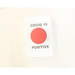 COVID 19 Button - POSITIVE - RED COVID 19 BUTTON N/C