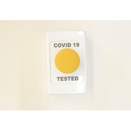 COVID 19 Button - TESTED - YELLOW COVID 19 BUTTON N/O