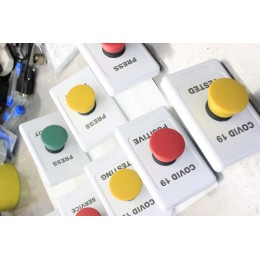 Custom Emergency Button Green - Yellow - Red