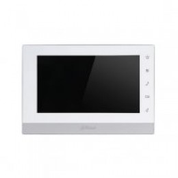 """DAHUA IP 7"""" TFT Touch Screen Indoor Monitor, White"""