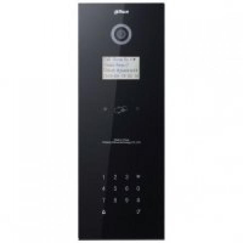 Dr Lock Shop DAHUA IP Apartment Outdoor Station, Black Glass Finish, IP65 (Requires DH12VDC2A)