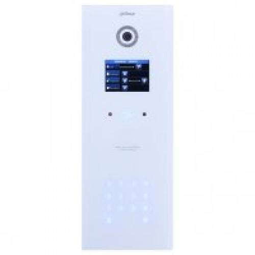 Dr Lock Shop DAHUA IP Apartment Outdoor Station, White Glass Finish, IP65 (Requires DH12VDC2A)