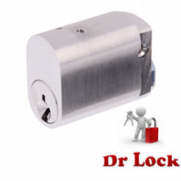 Abus 570 Oval Cylinder Silver
