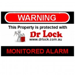 Alarm Warning Sticker - Dr Lock
