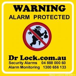 Alarm Warning Sticker - Large