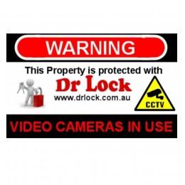 CCTV Warning Sticker - Dr Lock