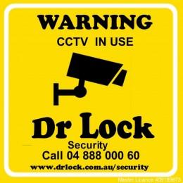 CCTV Warning Sticker - Large
