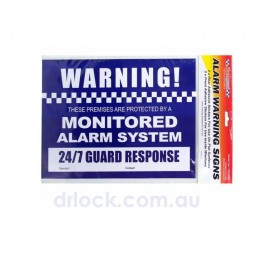 Alarm Warning Stickers 4 Pack