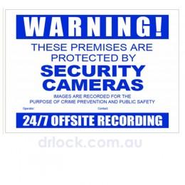 CCTV Warning Sign A3