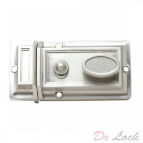 Night Latch Lock Silver