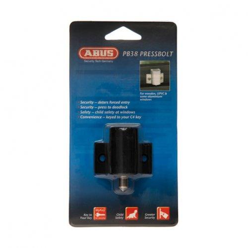 Dr Lock Shop ABUS PRESS BOLT PB38 LW4 DP REKEYABLE BLK