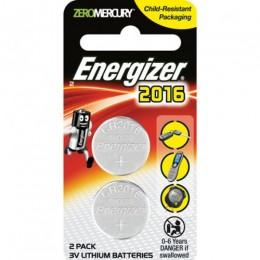 ENERGIZER BATTERY COIN CELL PK2 3V CR2016 LITHIUM