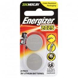 ENERGIZER BATTERY COIN CELL PK2 3V CR2025 LITHIUM