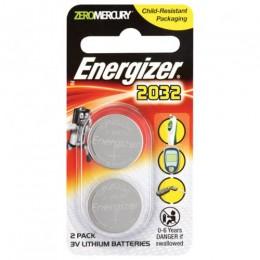 ENERGIZER BATTERY COIN CELL PK2 3V CR2032 LITHIUM