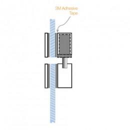 PADDE ES8000 V-LOCK GLASS DOOR HOUSING 208000-000