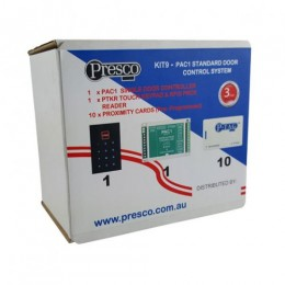 PRESCO ONE DOOR PIN / PROX KIT including 10 CARDS