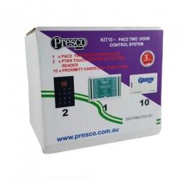 PRESCO TWO DOOR PIN / PROX KIT including 10 CARDS