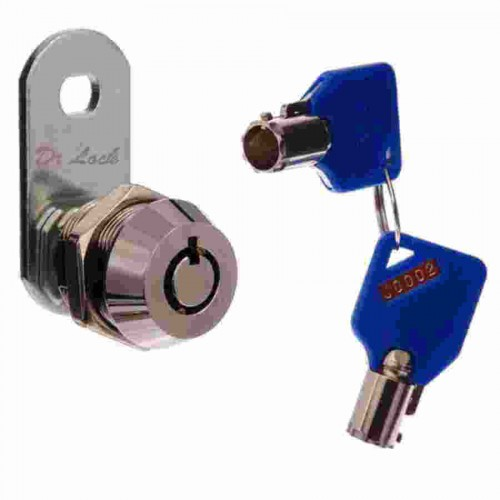 Round Key Security Cam Lock 16mm - BDS