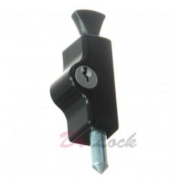 Window Lock Mini Bolt - Black