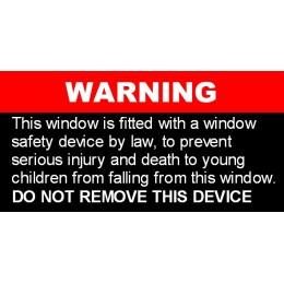 Window Safety Lock  - Sticker