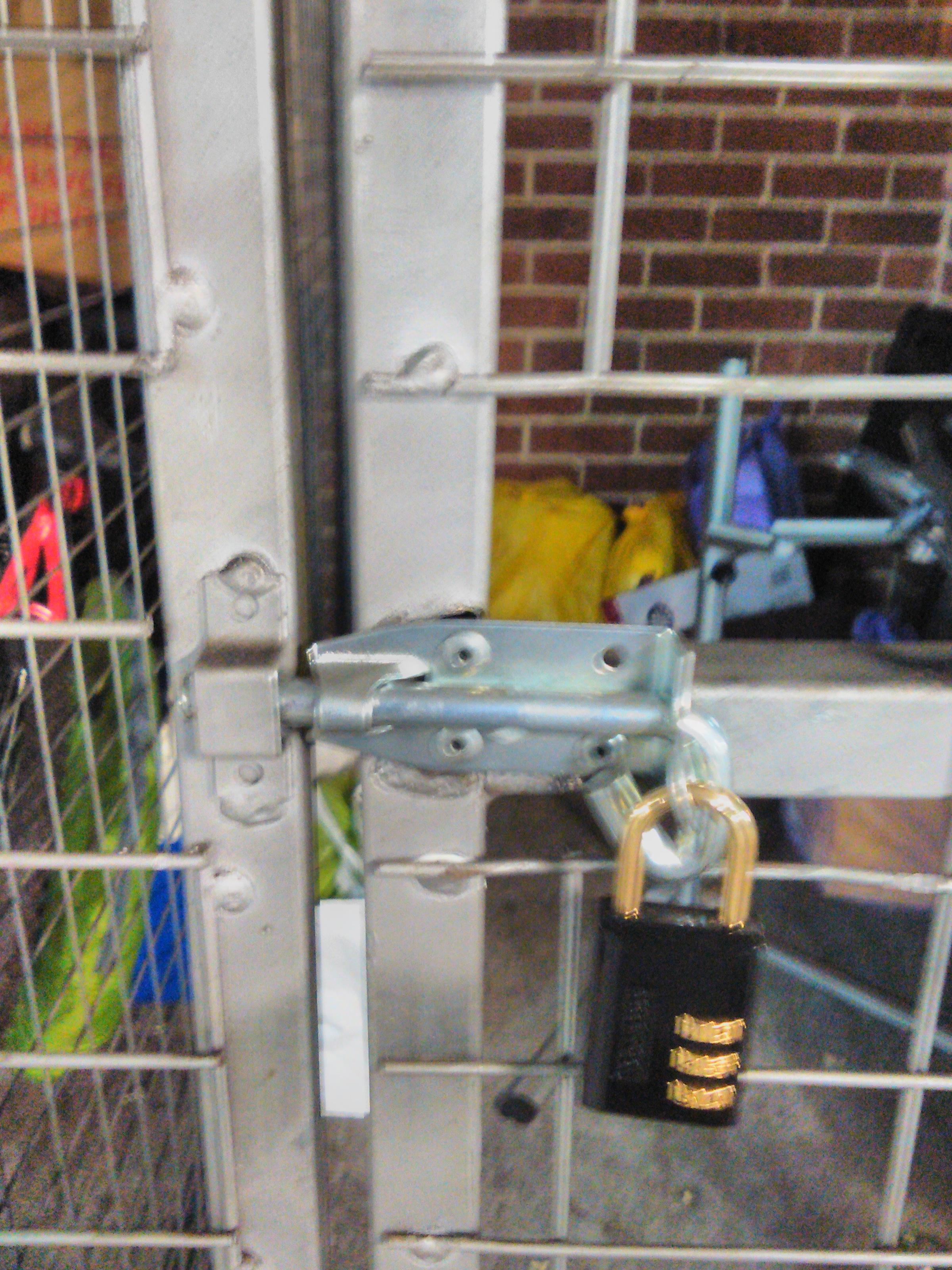 Storage cage lock